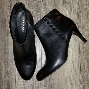 Coach Black Hickory Booties